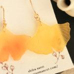 通販のお知らせ「イチョウの耳飾り」ヴィレッジヴァンガードオンラインストアより販売中!